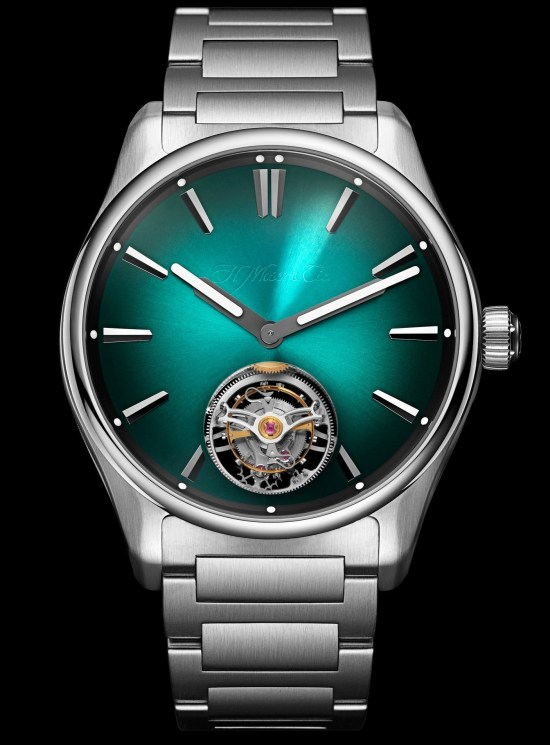 H. Moser & Cie. Pioneer Tourbillon MEGA Cool Limited Edition watch with green dial