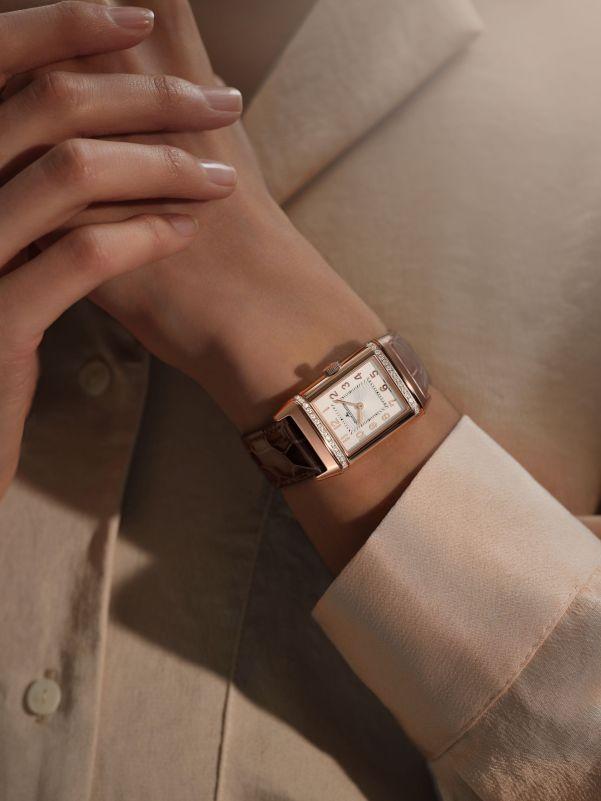 Jaeger-LeCoultre Reverso Duetto Medium watch wrist shot