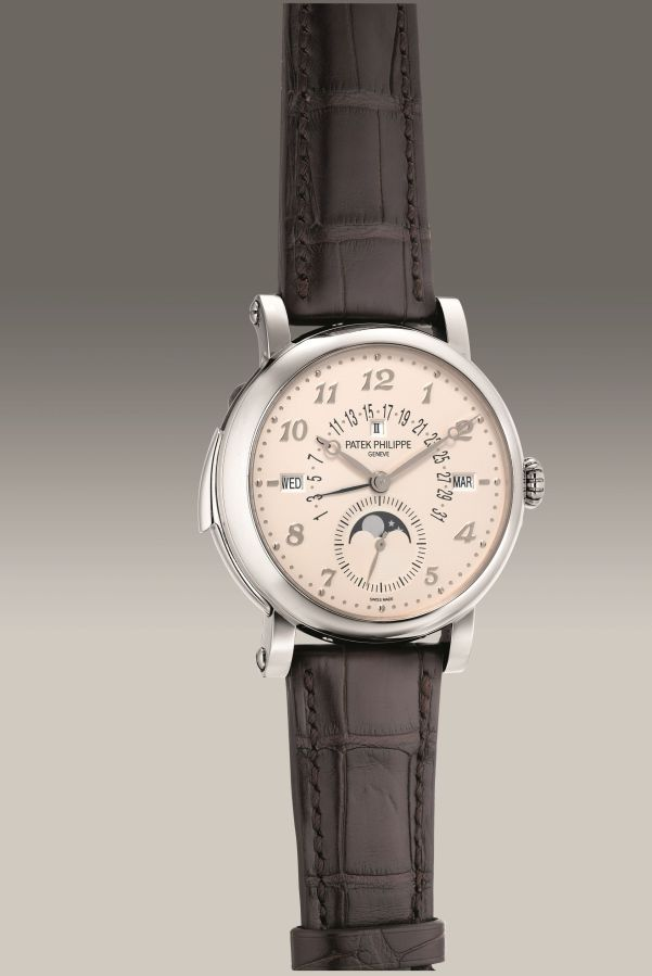 Patek Philippe Ref. 5213G-010 white gold minute repeating perpetual calendar wristwatch. Circa 2020. Estimate: HK$ 2,000,000 - 3,100,000