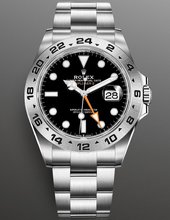 Rolex Explorer II New Reference 226570-0002 (42mm Oystersteel Case and Black Dial)
