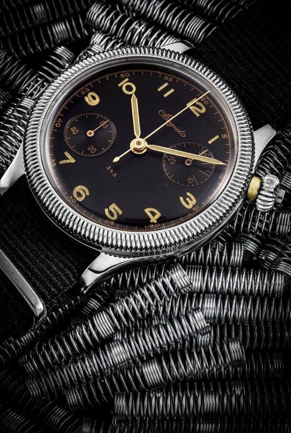 BREGUET stainless steel single button chronograph wristwatch