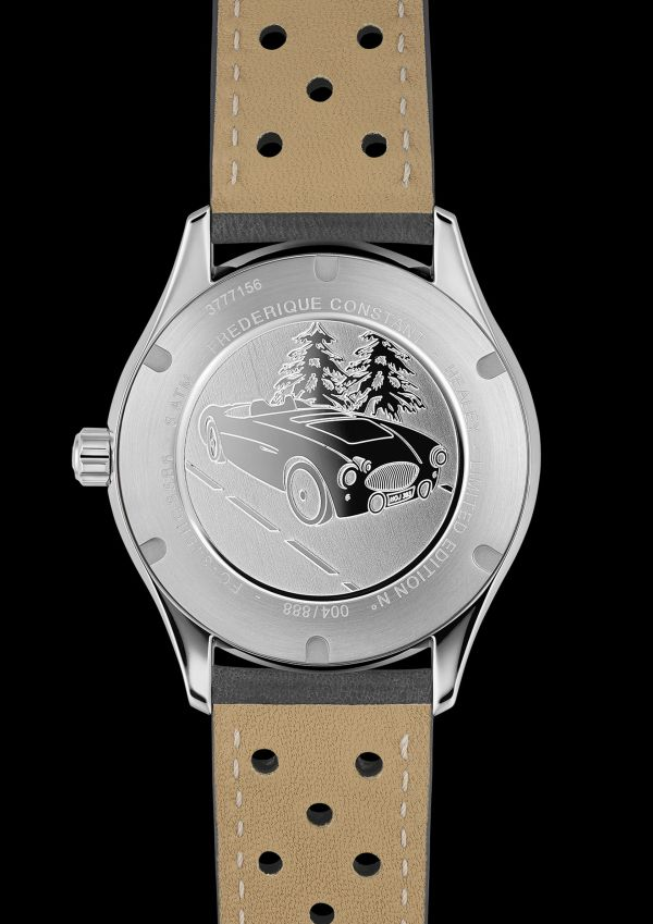 Frederique Constant Vintage Rally Healey Automatic Small Seconds stainless steel version case back