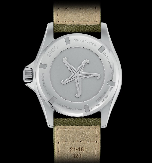 Mido Ocean Star Tribute, With Khaki Dial and Green Fabric Strap (reference M026.830.18.091.00)