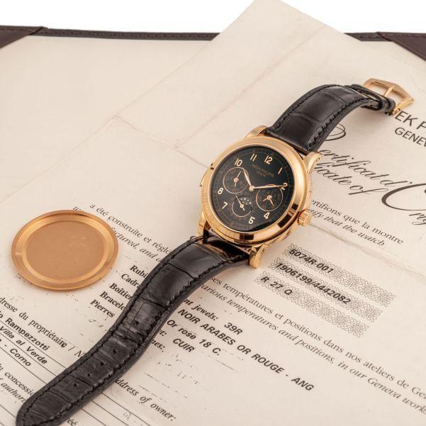 LOT 389: Patek Philippe, Ref. 5074R, Perpetual Calendar Minute Repeater, Pink Gold