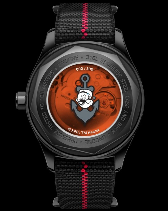 "UNDONE x Popeye ""The Sailorman"" watch caseback"
