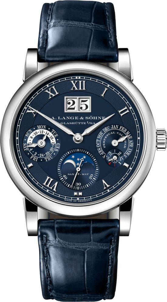 A. Lange & Söhne Langematik Perpetual, New Blue Dial Edition in white gold
