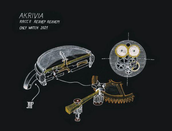 """AKRIVIA Chronomètre Contemporain II """"Only Watch"""" 2021 Unique Piece"""