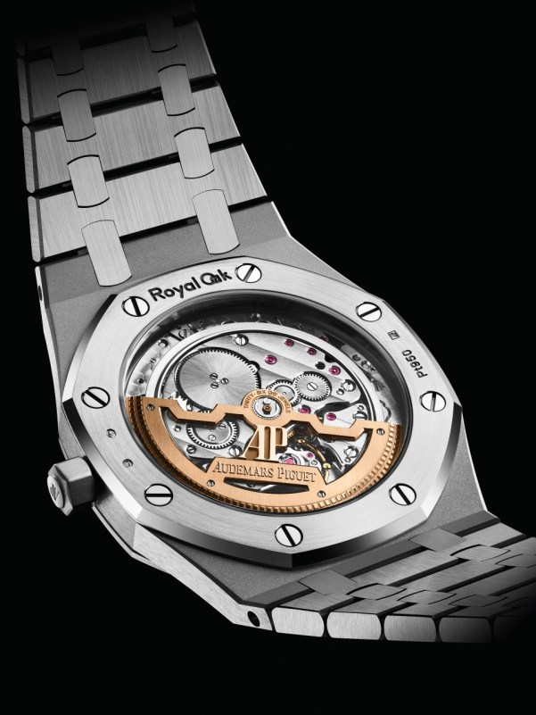 """Audemars Piguet Royal Oak """"Jumbo"""" Extra-Thin, New Model with Platinum Case and Smoked Green Dial"""
