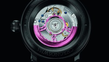 Chronoswiss Flying Regulator Open Gear Pink Panther Limited Edition automatic watch with sapphire crystal case back
