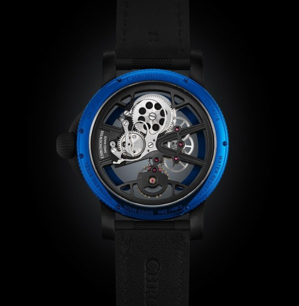Chronoswiss SkelTec Azur Limited Edition manual winding mechanical watch