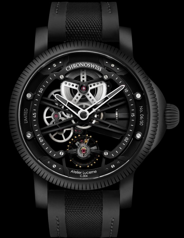 Chronoswiss SkelTec Pitch Black Limited Edition watch