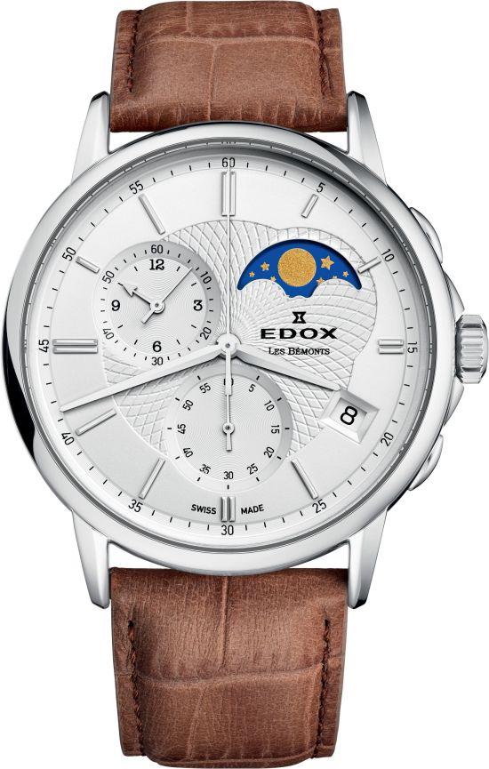 Edox Les Bémonts Chronograph Moon Phase, Ref. 01651 3 AIN