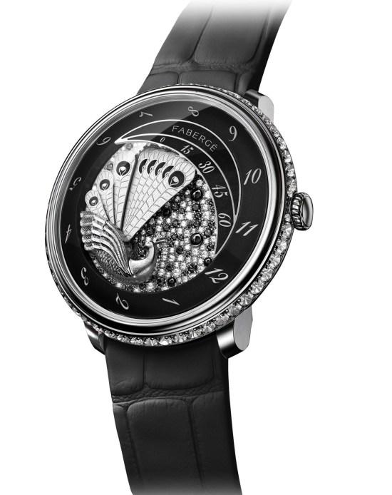Fabergé Lady Compliquée Peacock Black Sapphire watch