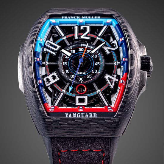 Franck Muller Vanguard™ Racing Skeleton Bill Auberlen Limited Edition watch with carbon case