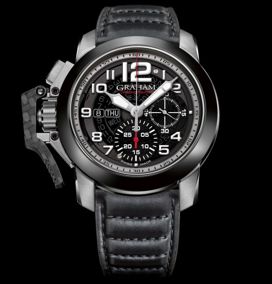 Graham Chronofighter Target watch with stainless steel case