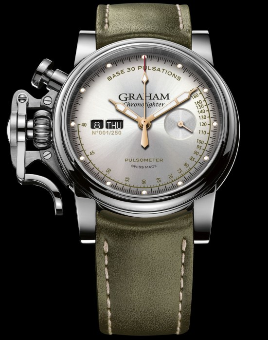 Graham Chronofighter Vintage Pulsometer Ltd with silver dial