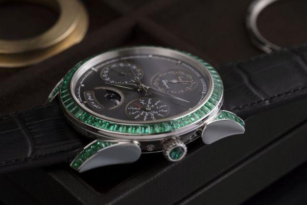 Parmigiani Fleurier Tonda Hijri Perpetual Calendar Emeralds