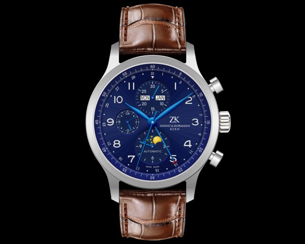 Zahnd & Kormann ZK No.1.2 (automatic chronograph with day, date, month and moonphase)