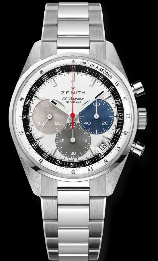 Zenith Chronomaster Original stainless steel model with silver dial and stainless steel bracelet