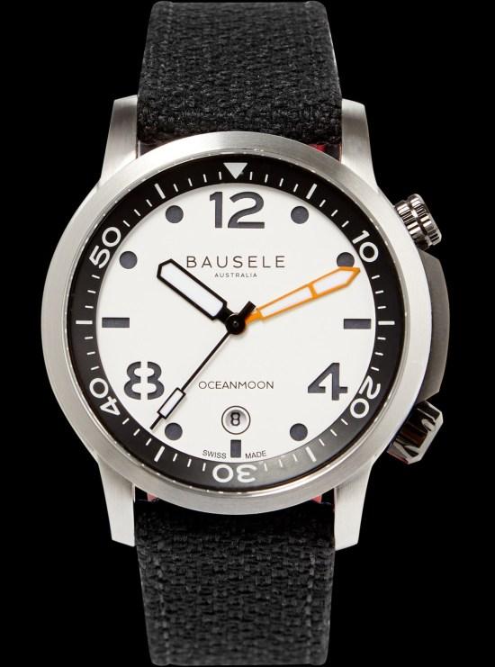 Bausele Ocean Moon IV watch white dial
