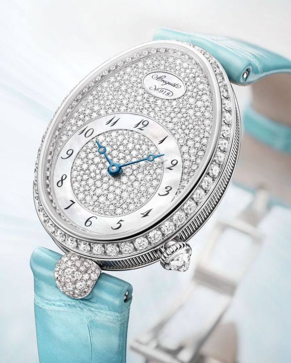 Breguet Reine De Naples 8938 diamond set white gold watch