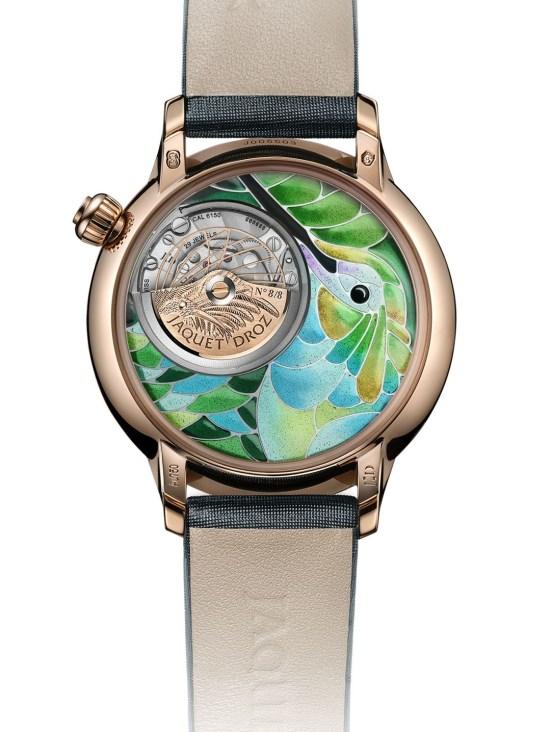 Jaquet Droz Petite Heure Minute Smalta Clara Hummingbird Limited Edition