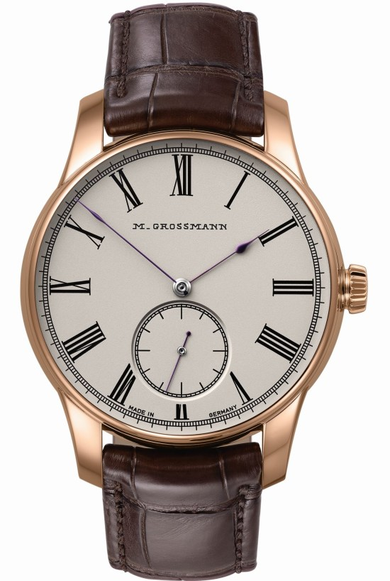 Moritz Grossmann HAMATIC Vintage New Models with Silver-plated by Friction Dial