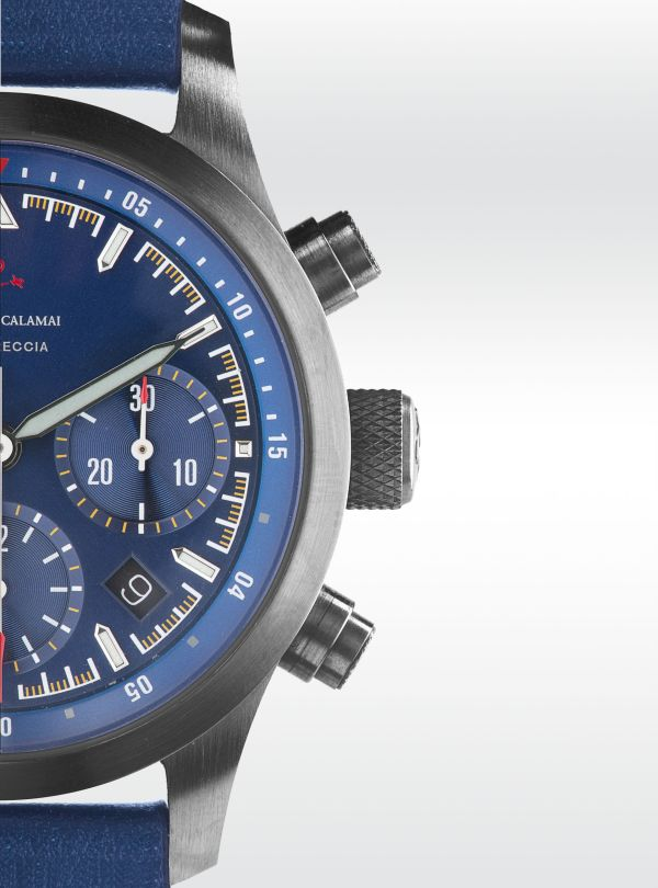 Orologi Calamai Chronograph G50/F with blue dial