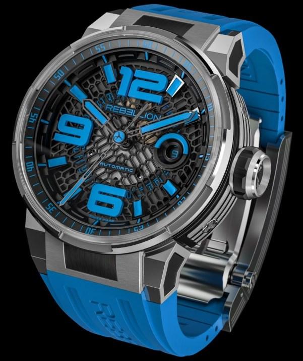 REBELLION PREDATOR 2.0 3 HANDS titanium blue watch