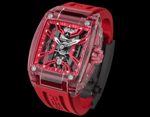 Rebellion RE-Volt Sapphire watch with red case