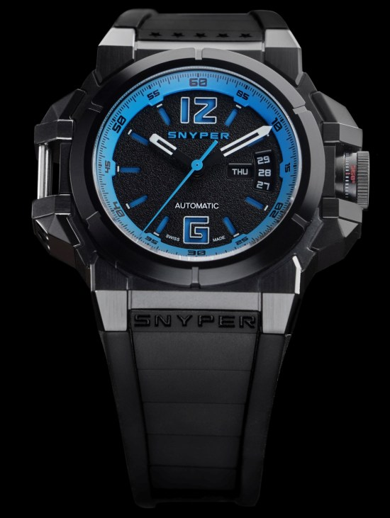 Snyper Two – Black PVD Navy watch, Reference: 20.290.0R