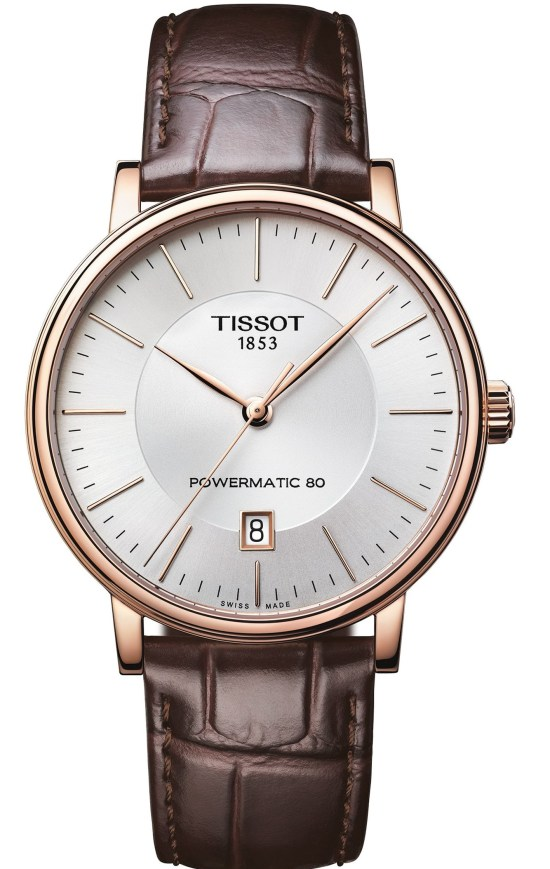 Tissot Carson Gent Automatic watch with PDV rose gold case