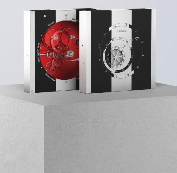 The Trilobe clock by Daniel Buren