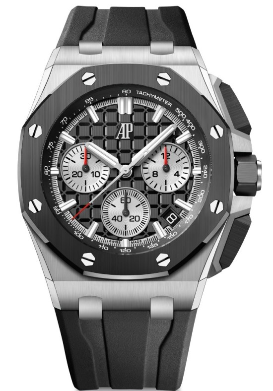 Audemars Piguet Royal Oak Offshore Self-winding Chronograph 43 mm with stainless steel case, black ceramic bezel and Black dial