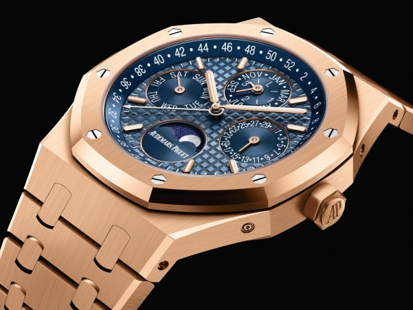 Audemars Piguet Royal Oak Perpetual Calendar Pink Gold with Blue dial / 41 mm, Reference: 26574OR.OO.1220OR.03
