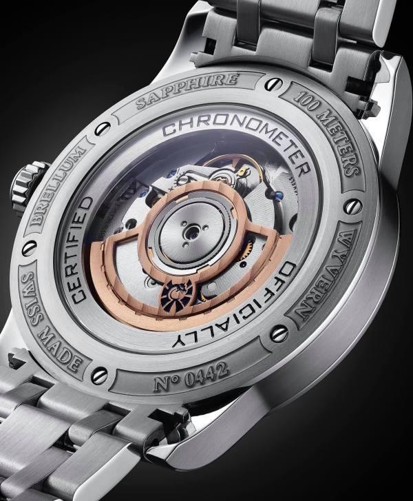 Brellum Wyvern GMT Chronometer watch movement caseback view