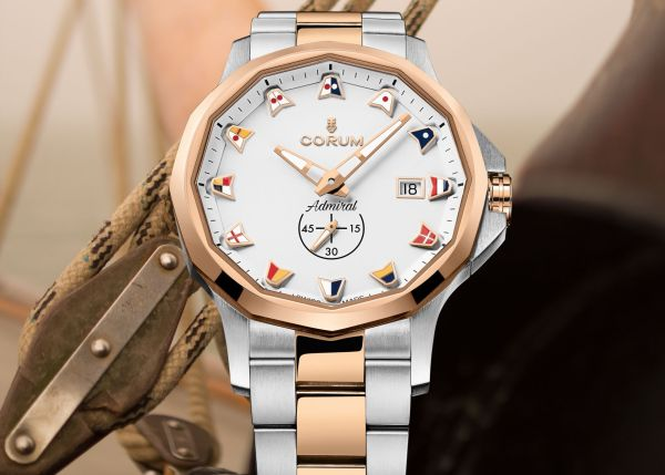Corum Admiral 42 Automatic New Model with stainless steel and 5N 18k rose gold case and bracelet