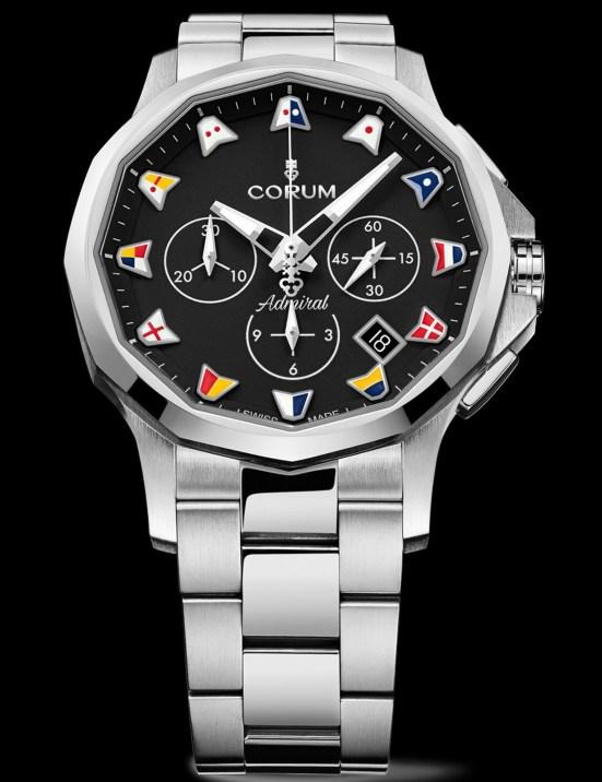 Corum Admiral 42 Chronograph New Models 2021 black dial