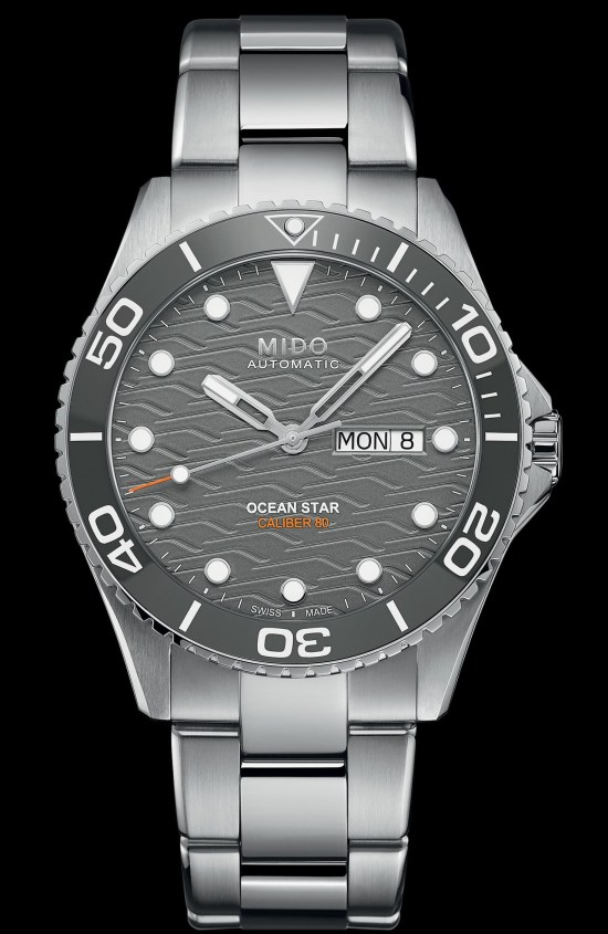 MIDO OCEAN STAR 200C TRILOGY diving watch with grey dial