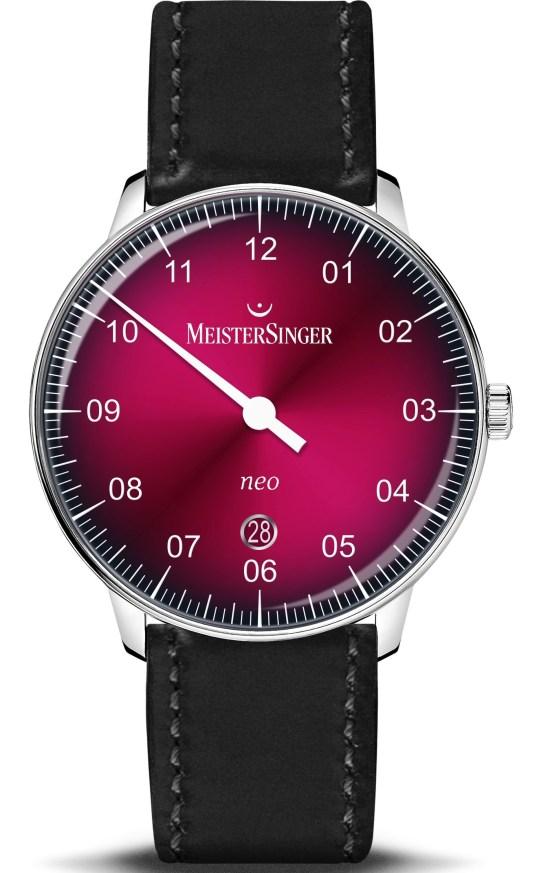 MeisterSinger NEO with Bordeaux Degradé Dial