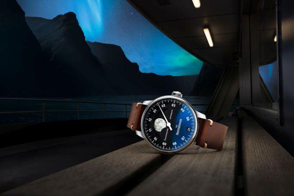 MeisterSinger Stratoscope moonphase watch