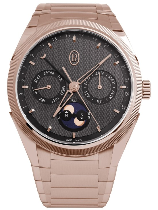 Parmigiani Fleurier Tonda PF Annual Calendar - with polished and satin-finished eco-friendly 18ct rose gold with hand-knurled bezel