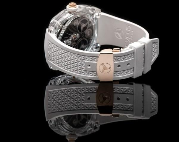 """Cyrus Genève """"Klepcys Vertical Skeleton Tourbillon Sapphire"""" 10th Limited Edition"""