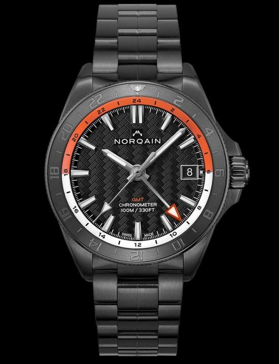 NORQAIN ADVENTURE NEVEREST GMT black dlc version with bracelet