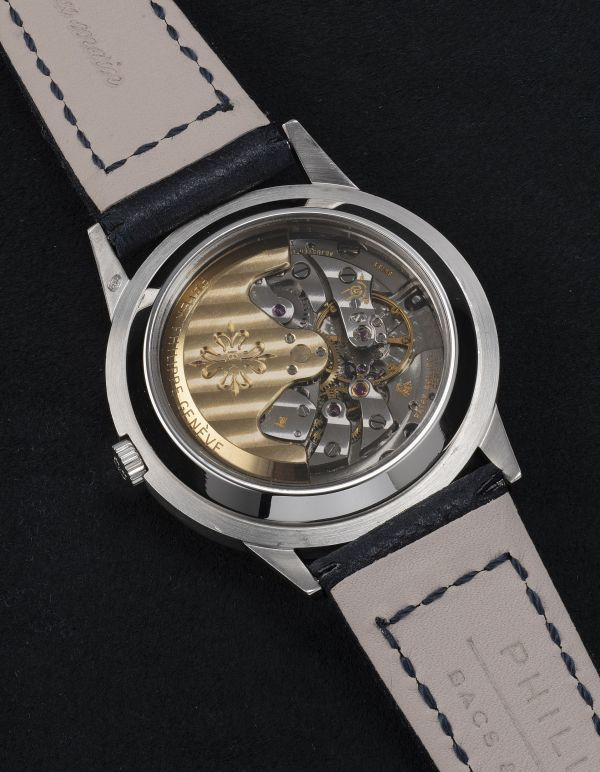 Patek Philippe Ref. 3448-100 'The Blue Royale' platinum perpetual calendar wristwatch