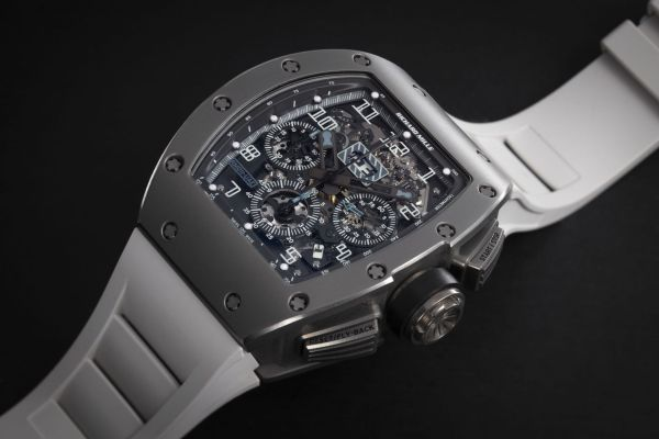 Lot 6: RICHARD MILLE, RM011 UAE EDITION, AN EXCLUSIVE ALL GRAY LIMITED EDITION TITANIUM FLYBACK CHRONOGRAPH, NO. 7/7