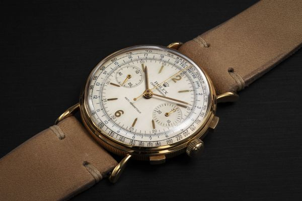 Lot 82: ROLEX REF. 4062 YELLOW GOLD, ANTI-MAGNETIC, MANUAL-WINDING CHRONOGRAPH