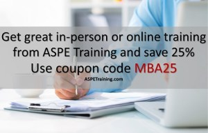 Get a 25% discount on training from ASPE