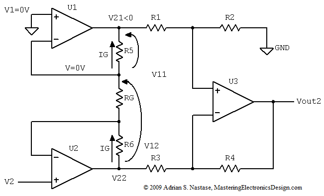 How to Derive the Instrumentation Amplifier Transfer