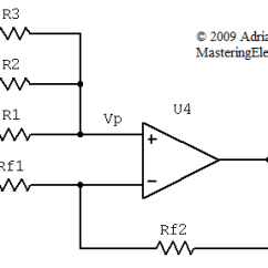 Circuit Diagram Of Non Inverting Amplifier Two Wire Thermostat Wiring The Transfer Function Summing With N 3